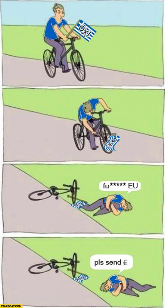greek-riding-a-bicycle-oxi-european-union-fault-pls-send-euro
